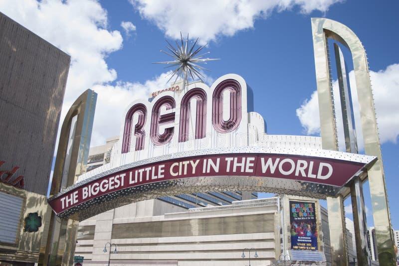Reno Marquee fotografia stock libera da diritti
