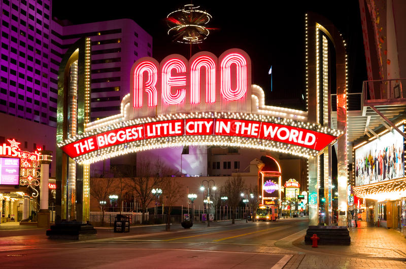Reno Nevada lizenzfreie stockfotos