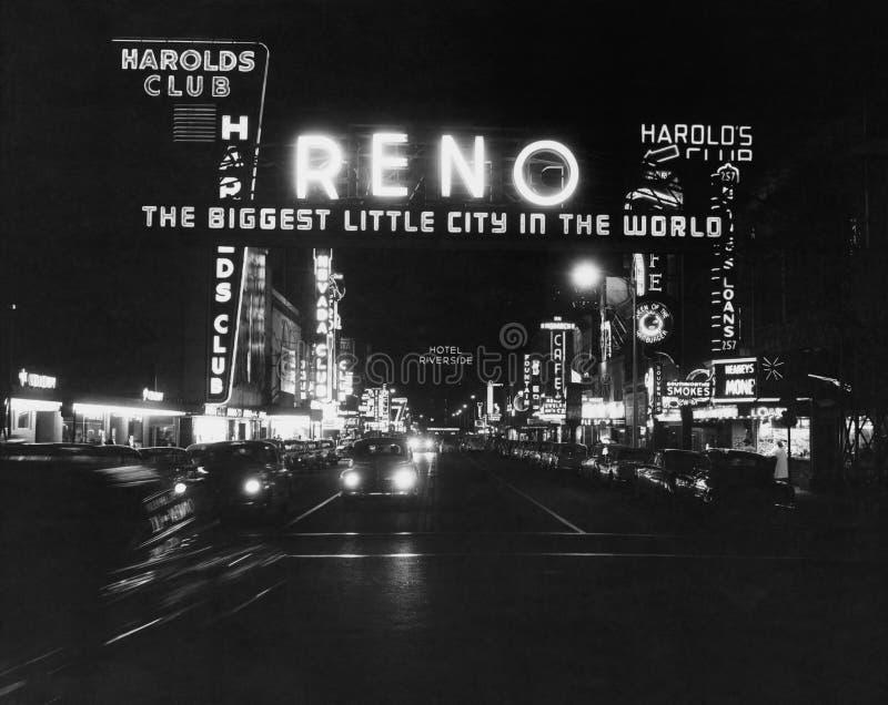 Reno Nevada, circa los años 50 (todas las personas representadas no son vivas más largo y ningún estado existe Garantías del prov imagen de archivo libre de regalías