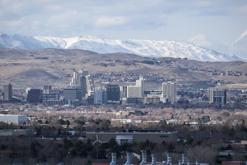 Reno Nevada Winter View stock photography