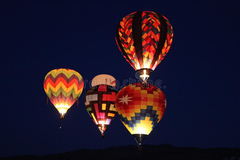 Reno Night Lights arkivbild