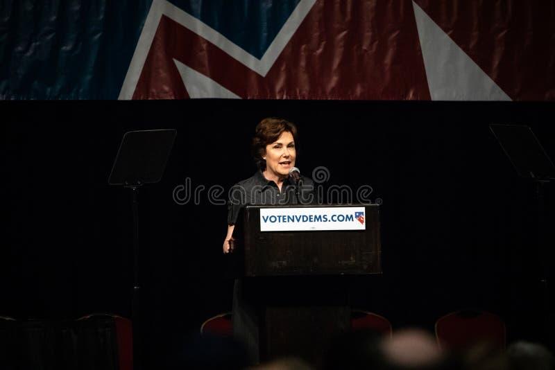 Reno, NV - 23 Ιουνίου 2018 - Jacky Rosen Speaking During Νεβάδα ST στοκ φωτογραφίες με δικαίωμα ελεύθερης χρήσης