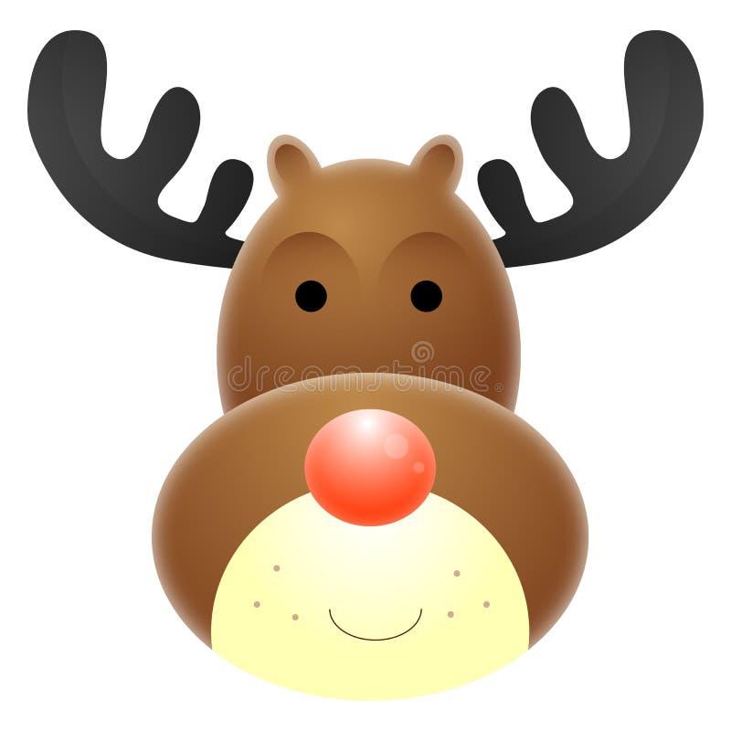 Reno sospechado rojo de Rudolph stock de ilustración