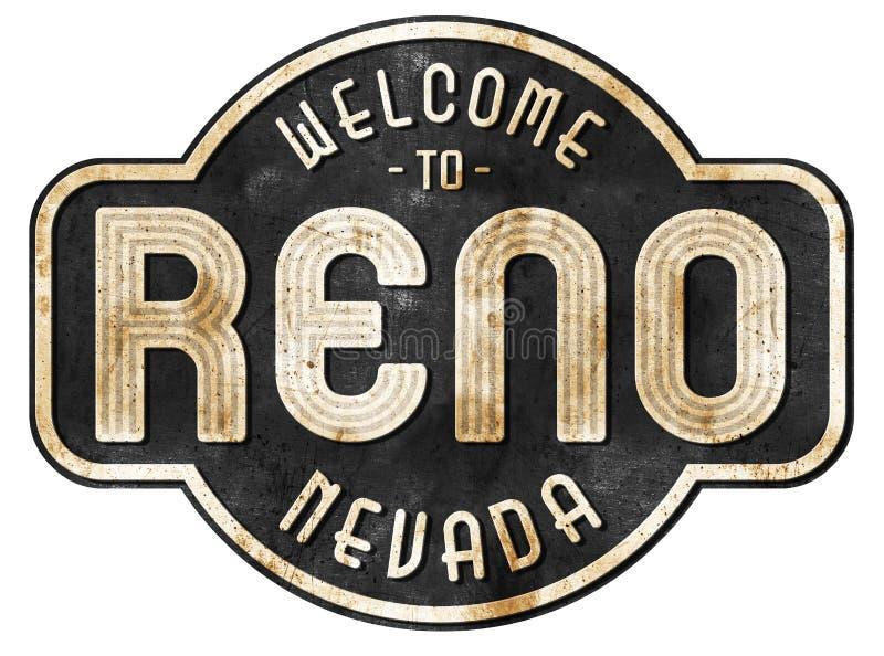 Reno Street Sign Vintage fotografía de archivo libre de regalías