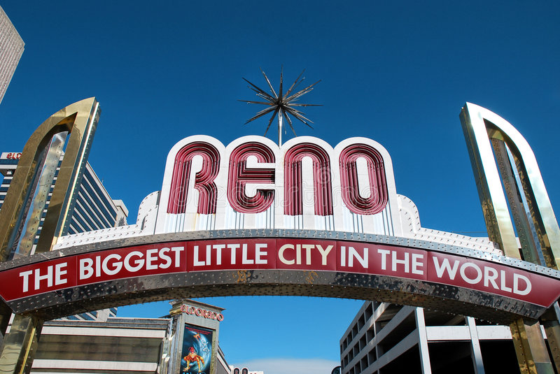 Reno welcome sign stock image