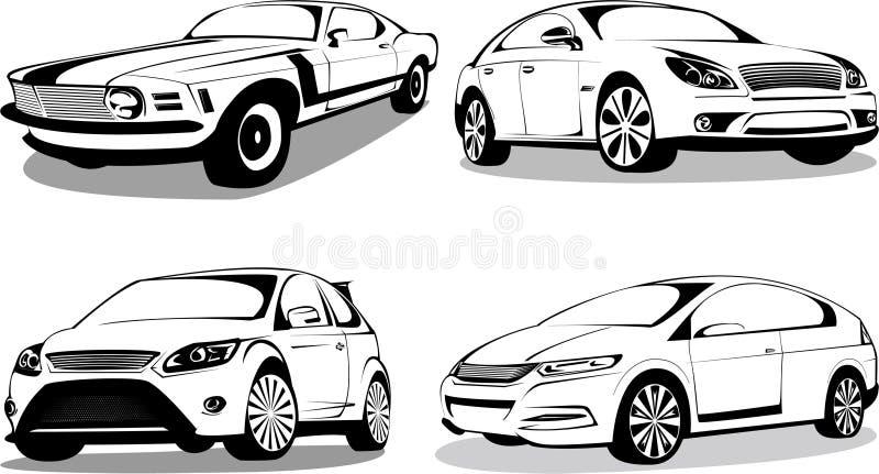 Renommierte Sportautos stock abbildung