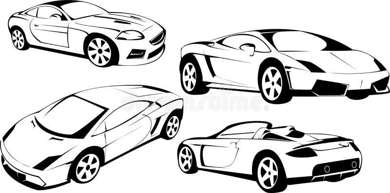 Renommierte Sportautos vektor abbildung