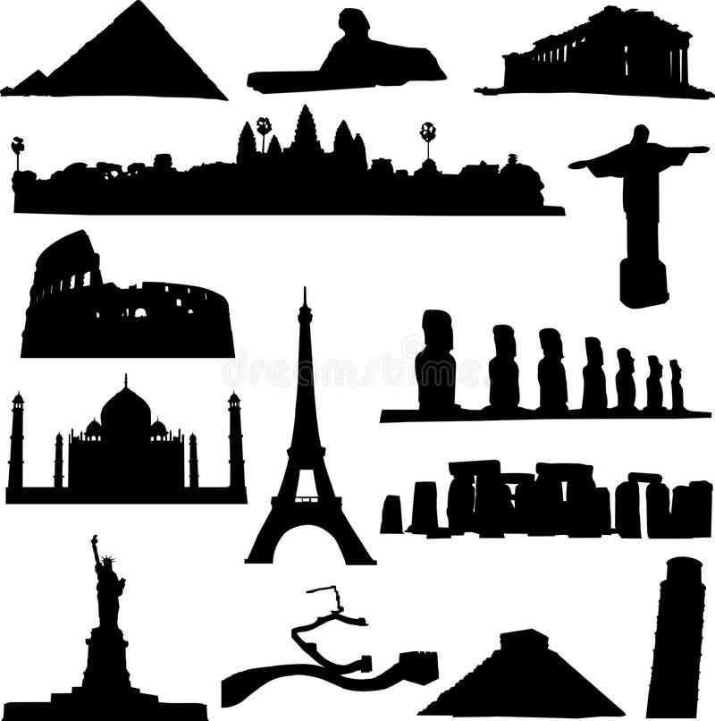 renomowany architekta świat royalty ilustracja
