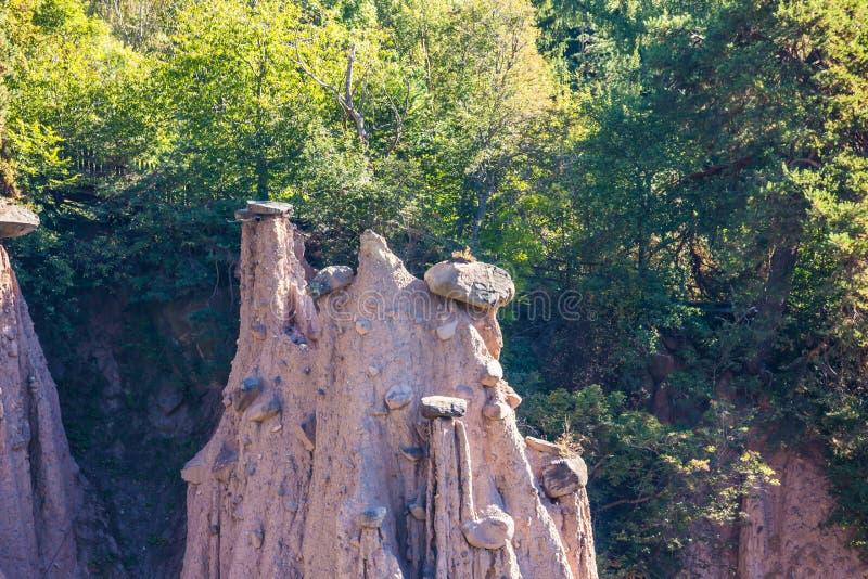 Renon ziemscy filary zdjęcia stock