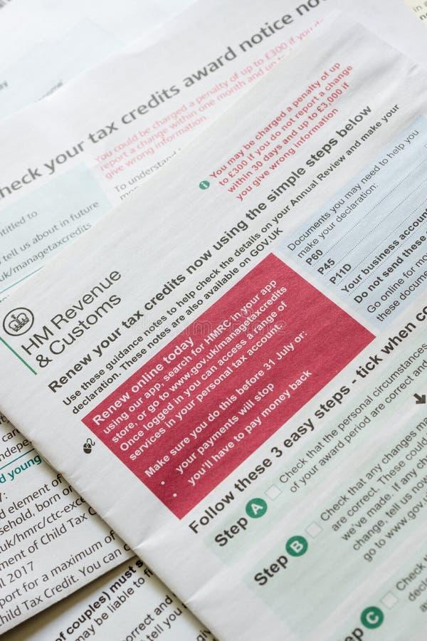 Renouvellement fonctionnant de crédit d'impôt photo libre de droits