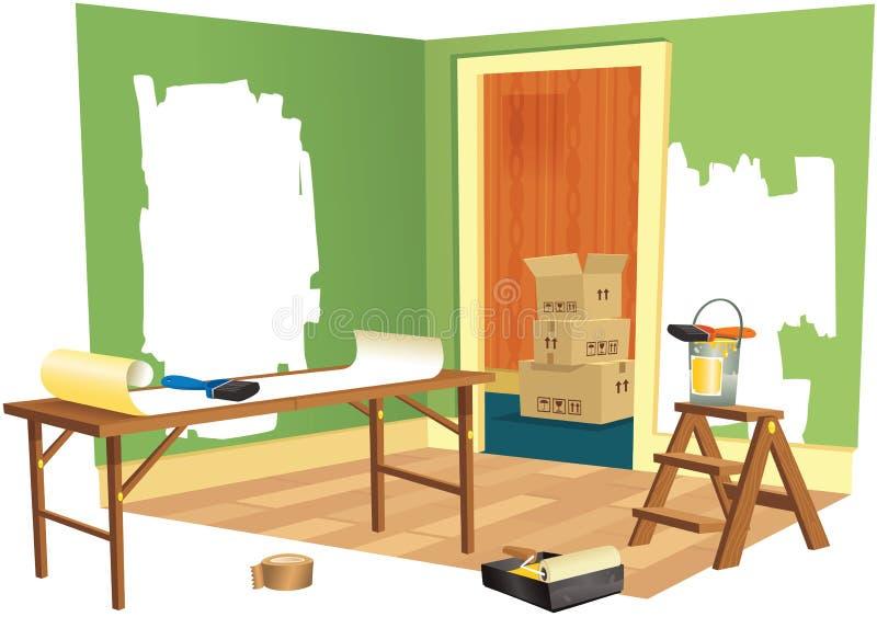 Renovação da casa ilustração stock