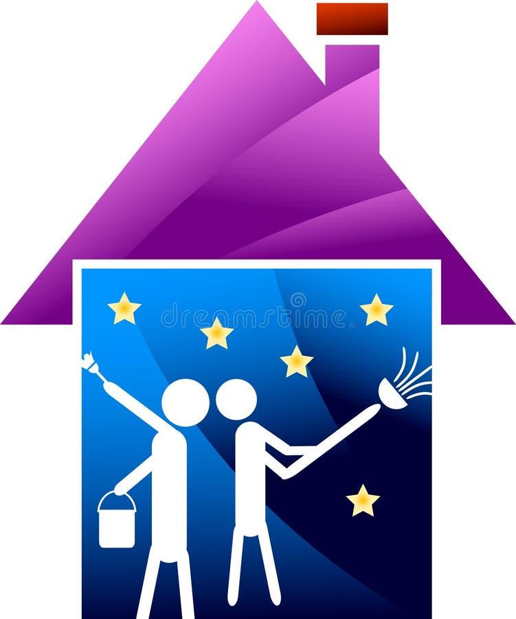Renovação da casa ilustração do vetor
