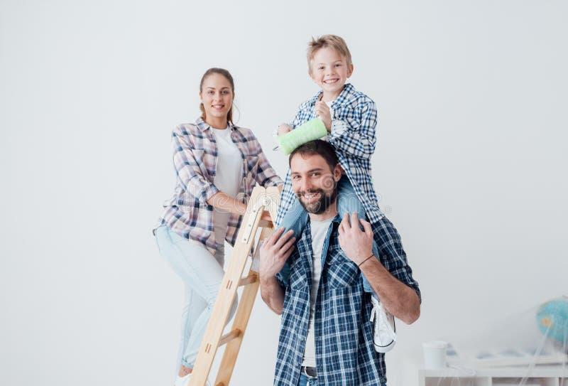 Renovação da casa familiar imagem de stock royalty free