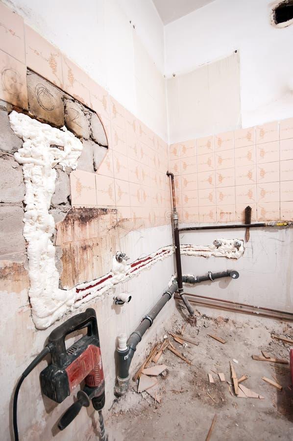Renovação da cozinha foto de stock