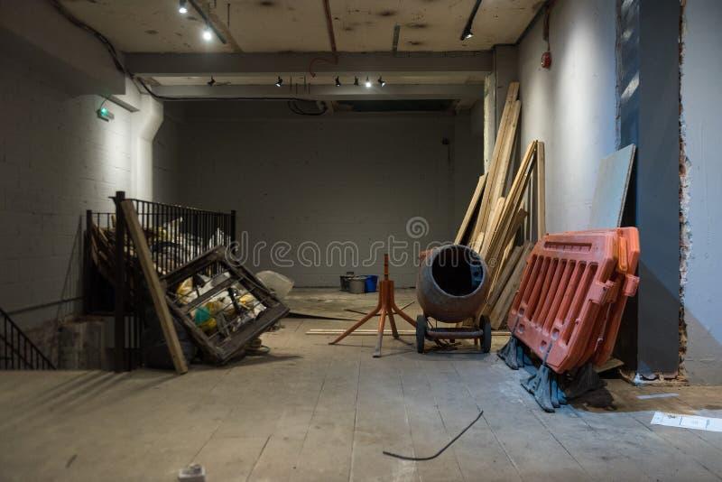 Renovação da sala imagem de stock