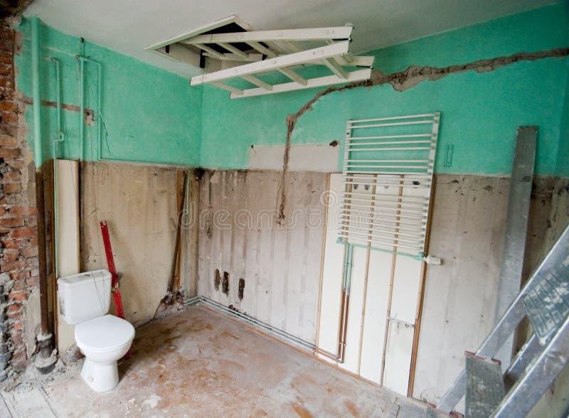 Renovação do banheiro. imagens de stock royalty free