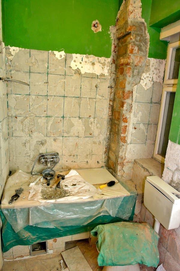 Renovação do banheiro fotos de stock