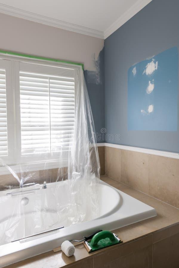 Renovação do banheiro fotografia de stock