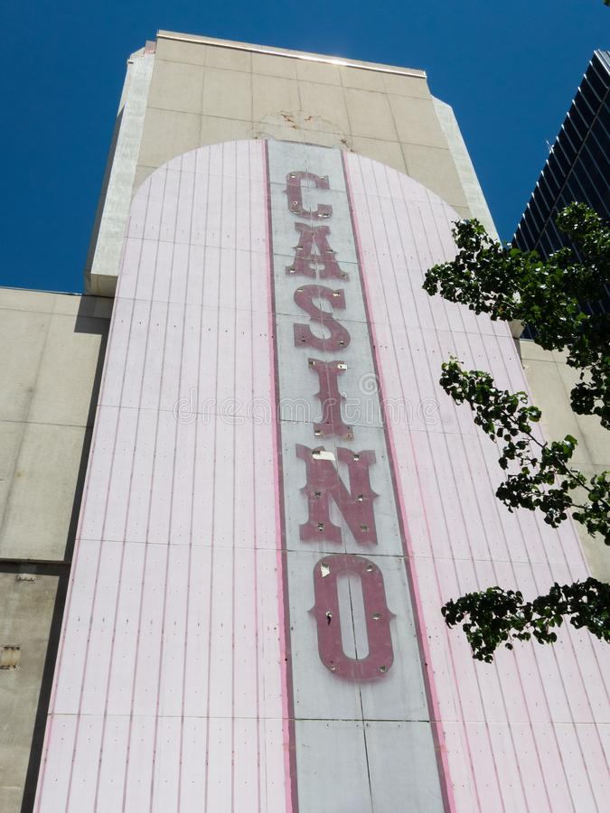 Renovação do casino, Reno, Nevada fotografia de stock royalty free