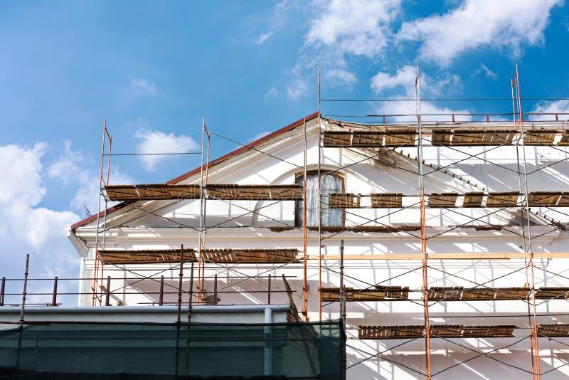 Renovação velha da casa fotos de stock