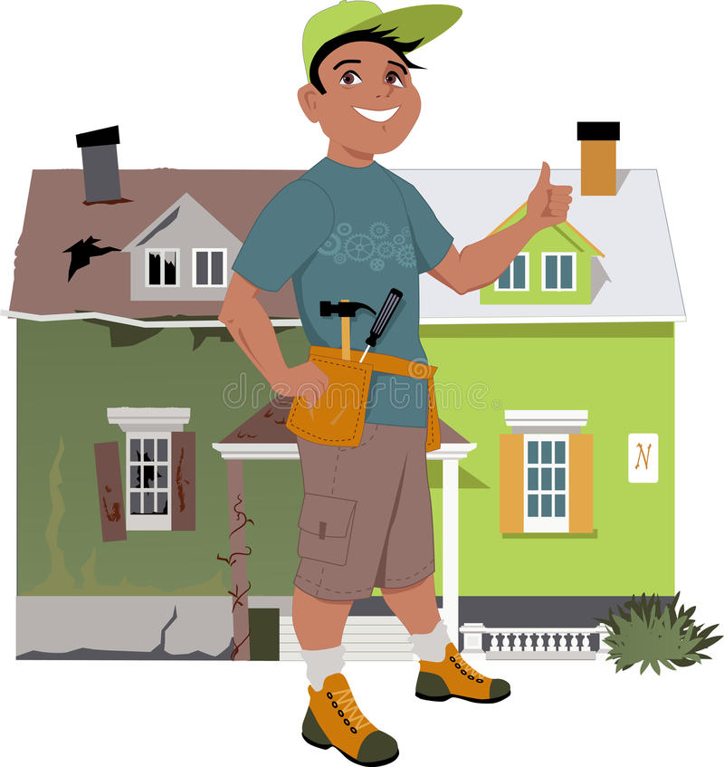 Renovate a house vector illustration