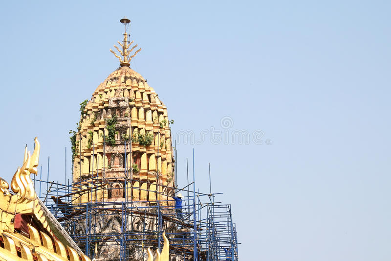 Download Renovate pagoda stock image. Image of thai, holy, rapair - 21064361