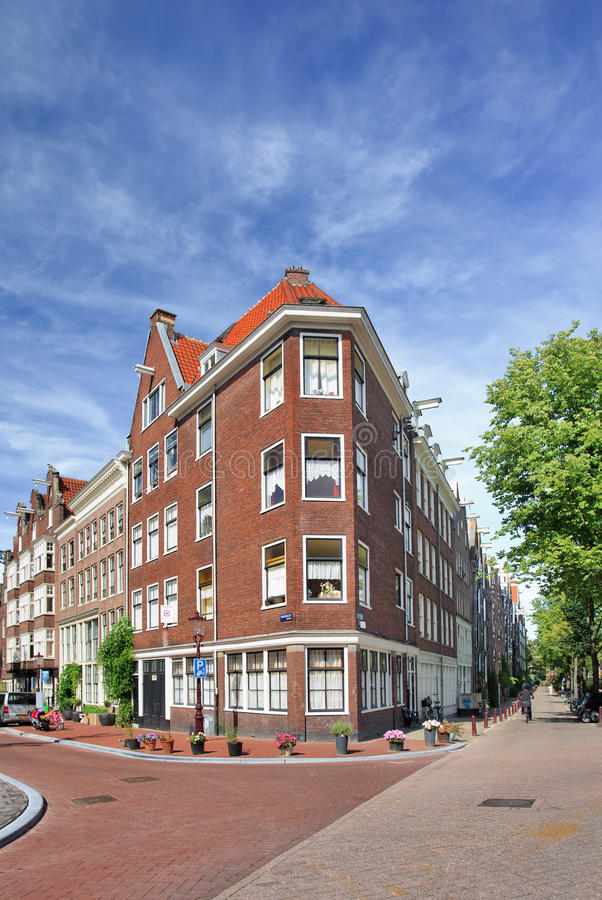 Renovated brick mansion, Amsterdam, netherlands stock photos