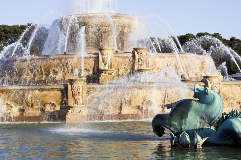 Renovated Buckingham Fountain royalty free stock images