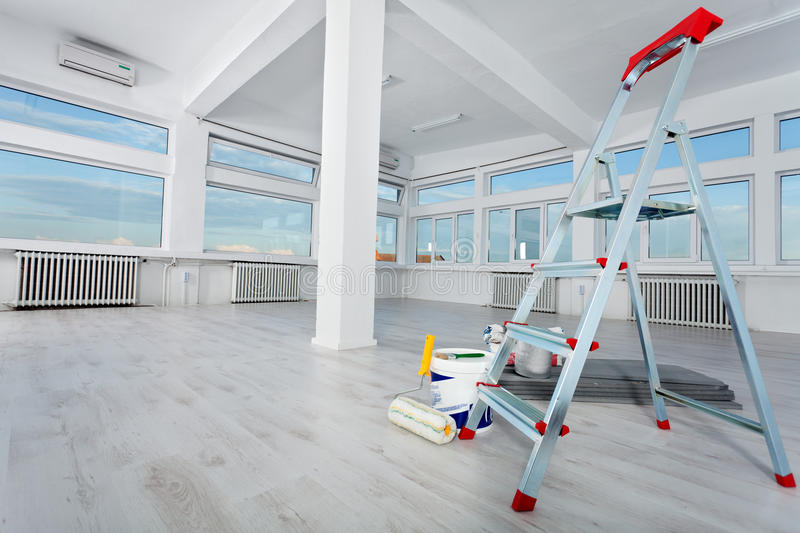 Renovated empty office space stock photo