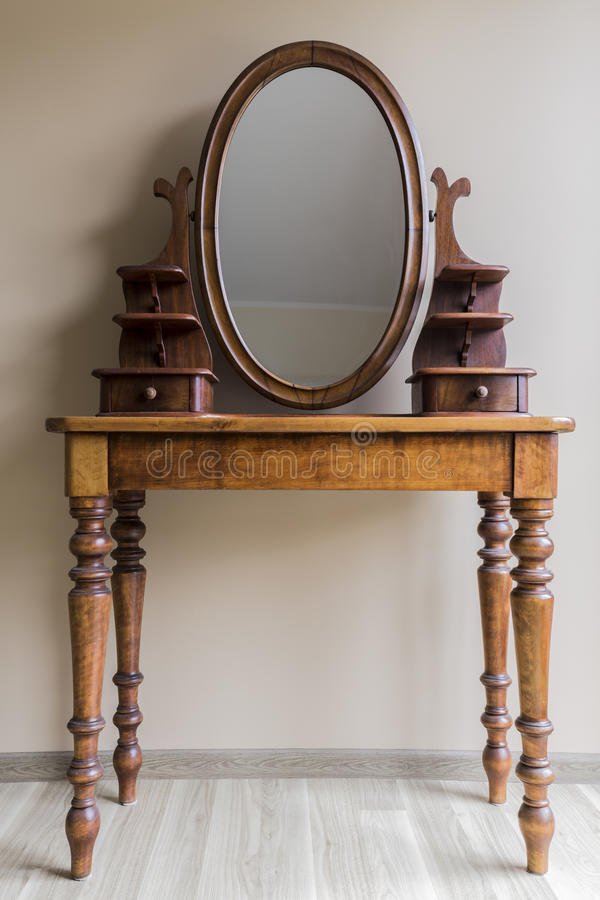 Renovated vintage dressing table stock photos