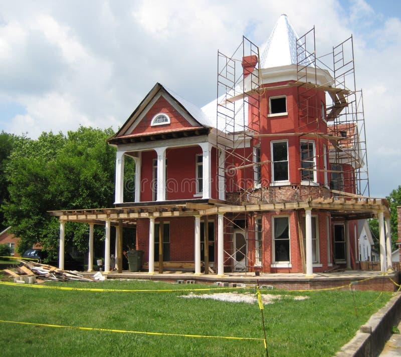 Renovating a house stock image