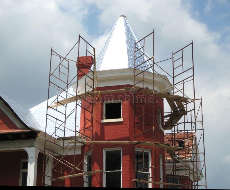 Renovating a house stock photos