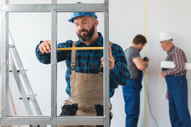 Renovating the house stock photography