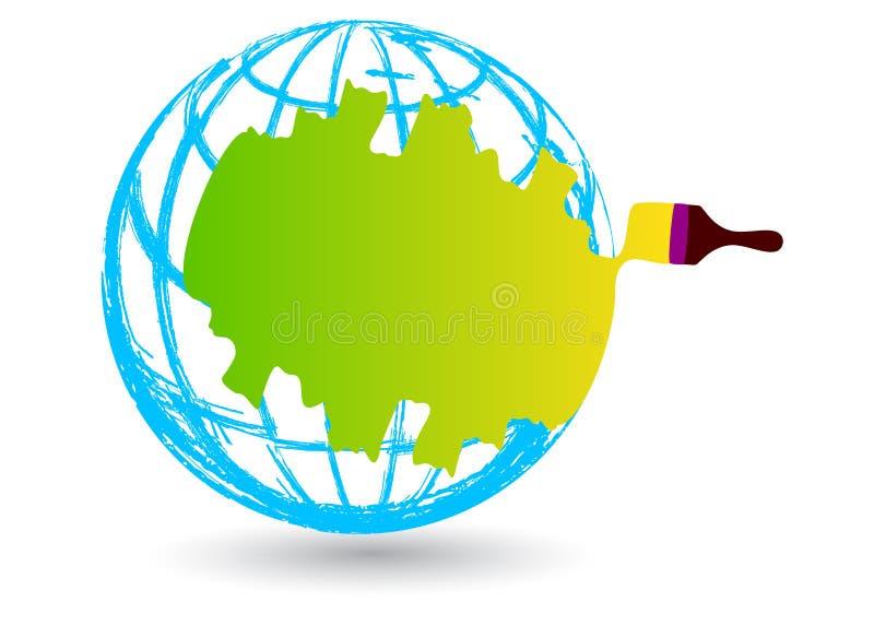 Renovating the world. Illustration of renovating the world design isolated on white background vector illustration
