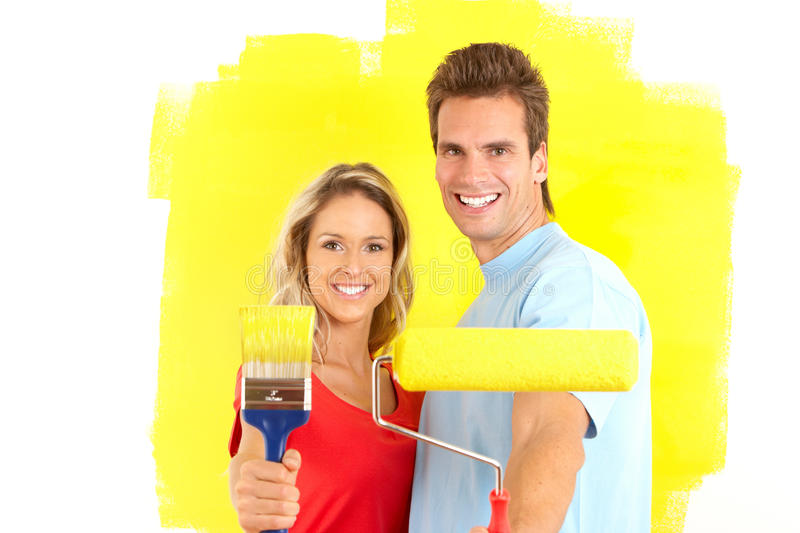 Download Renovation stock image. Image of color, housework, brush - 12365547