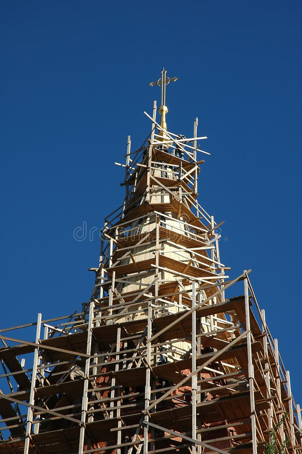 Download Renovation Of An Church Tower Stock Images - Image: 21394514