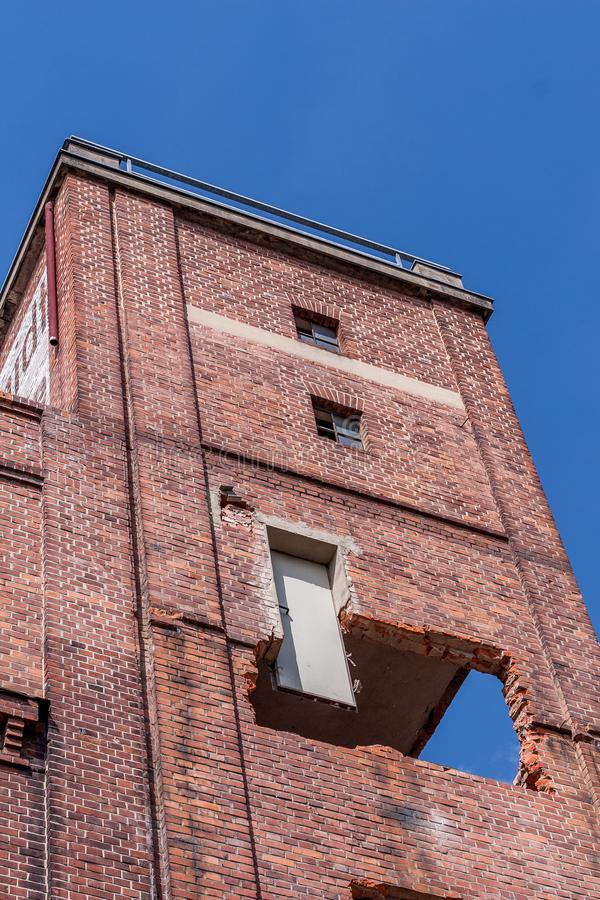 Renovation of a historic brick building. Renovation of a historic brewery brick building in Bayreuth for home use royalty free stock images