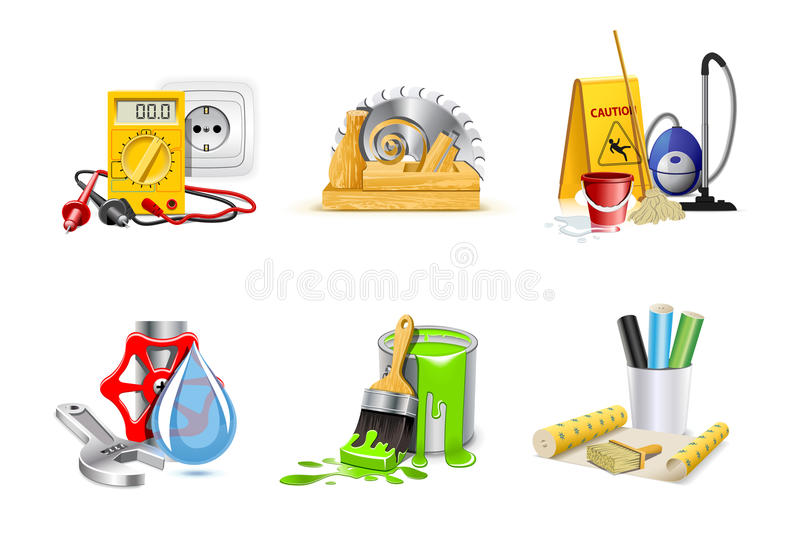 Renovation icons | Bella series 1 royalty free illustration