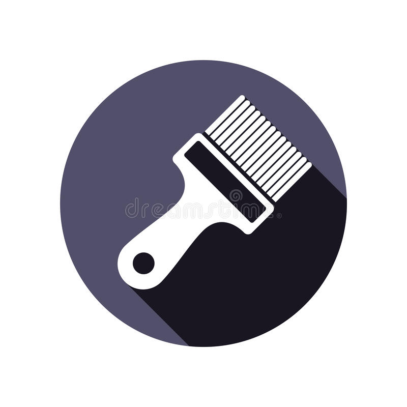 Renovation instrument used in whitewash, paint brush. Classic re. Paration tool. Building theme graphic vector design element vector illustration