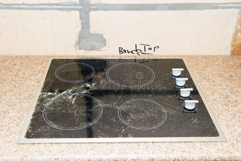 Renovation - Kitchen Cooktop. A kitchen cooktop just installed royalty free stock images