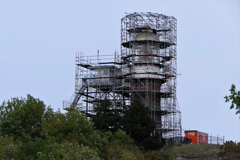 Renovation lighthouse Vlieland stock photo