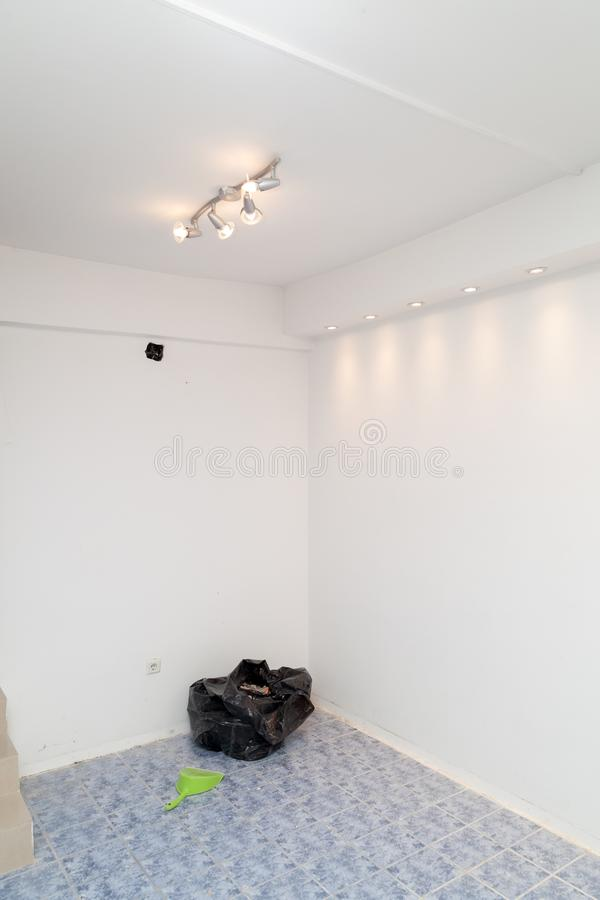 Renovation of the apartment. Renovation of the modern business apartment royalty free stock photos