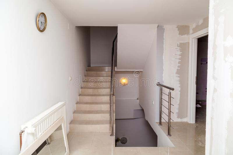 Renovation of the apartment. Renovation of the modern business apartment stock photography