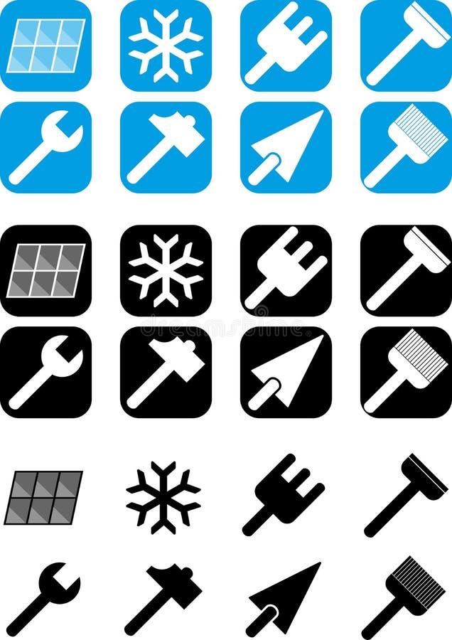 Renovation - Set of icons royalty free stock photos