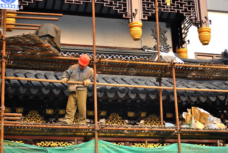 Download Renovation Of Temple Editorial Photography - Image: 22412017