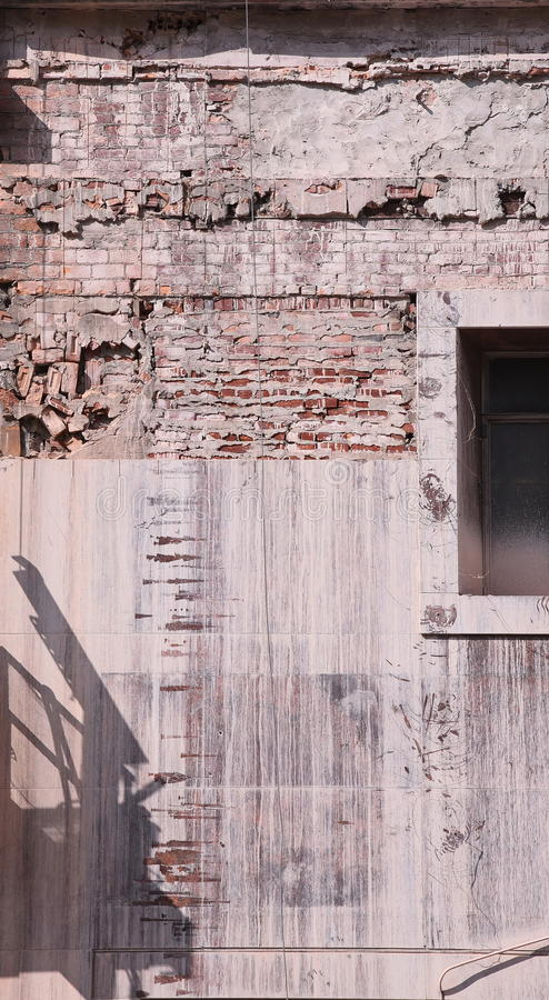 Renovation on Woodward, Detroit. Extensive renovation in a come back city stock images