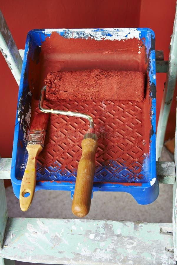 Free Renovations. Painting Tools Royalty Free Stock Photo - 31003425