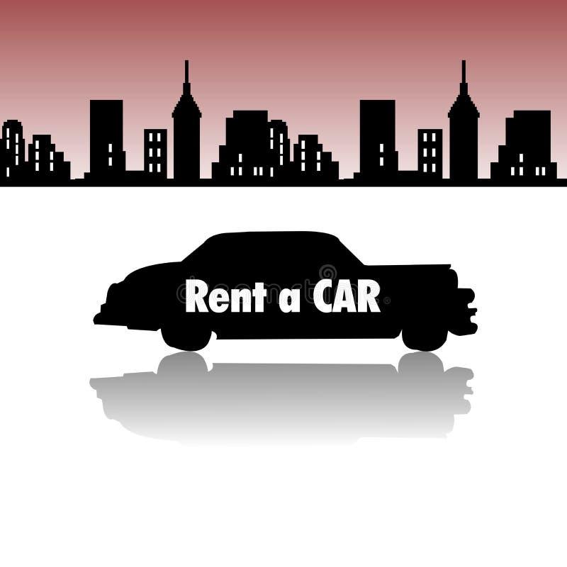 Rent a car stock illustration