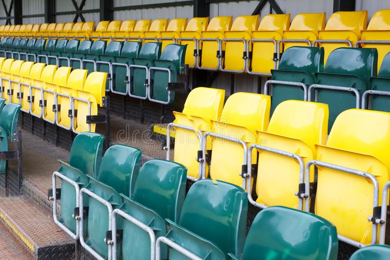 Rent de paviljoen draagbare rij van plaatsingssporten de veenmol van het de voetbalvoetbal van het gebeurtenisrugby voor toeschou stock foto's