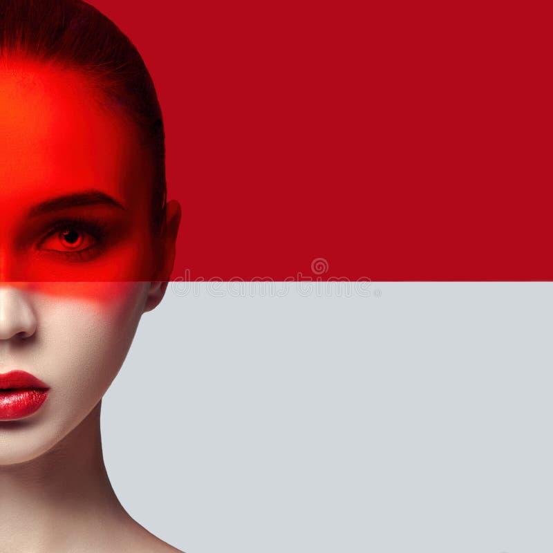 Rent göra perfekt hud och naturlig makeup, hudomsorg, naturlig cosmeti arkivbild